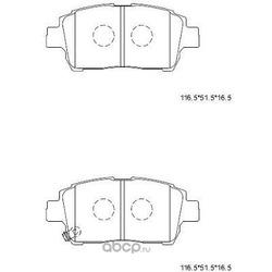 Колодки тормозные (ASIMCO) KD2754