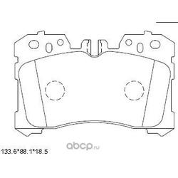 Колодки тормозные дисковые,передние (ASIMCO) KD2778