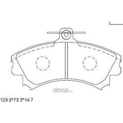 Колодки тормозные дисковые,передние (ASIMCO) KD4727
