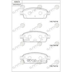 тормозные колодки (ASIMCO) KD6518