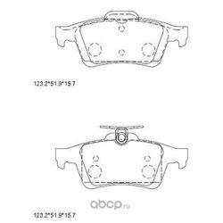 тормозные колодки (ASIMCO) KD6708