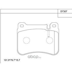 тормозные колодки (ASIMCO) KD7307