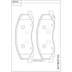 Колодки тормозные дисковые,передние (ASIMCO) KD7316