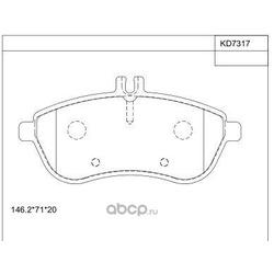 тормозные колодки (ASIMCO) KD7317