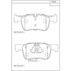 Тормозные колодки (ASIMCO) KD7442