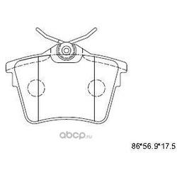 тормозные колодки (ASIMCO) KD7504