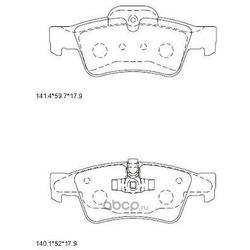 колодки тормозные (ASIMCO) KD7554