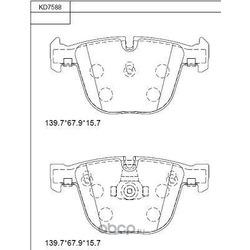 колодки тормозные дисковые (ASIMCO) KD7588
