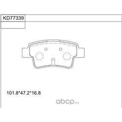 колодки тормозные дисковые (ASIMCO) KD77339