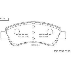 колодки тормозные дисковые (ASIMCO) KD7734