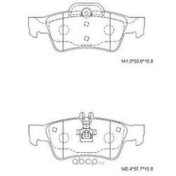 Колодки тормозные дисковые,задние (ASIMCO) KD7741