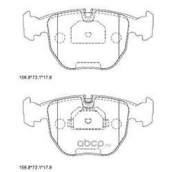 Колодки тормозные дисковые,передние (ASIMCO) KD7761