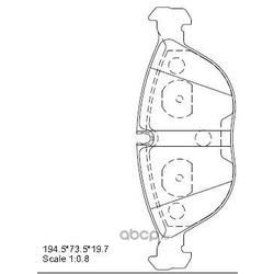 колодки тормозные дисковые (ASIMCO) KD7772