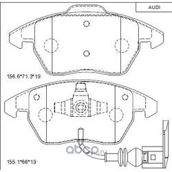 колодки тормозные дисковые (ASIMCO) KD7791