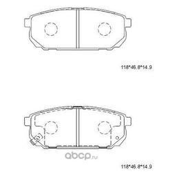 колодки тормозные дисковые (ASIMCO) KD9718