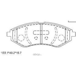 колодки тормозные дисковые (ASIMCO) KD9725