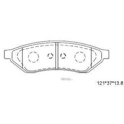 Колодки тормозные дисковые,задние (ASIMCO) KD9726