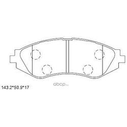 колодки тормозные дисковые (ASIMCO) KD9734