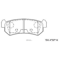 колодки тормозные дисковые (ASIMCO) KD9735