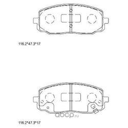 колодки тормозные дисковые (ASIMCO) KD9741