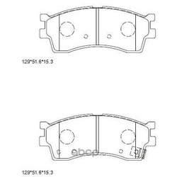 колодки тормозные дисковые (ASIMCO) KD9757