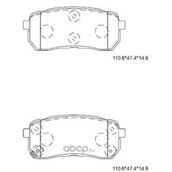 колодки тормозные дисковые (ASIMCO) KD9758