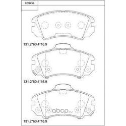 Колодки тормозные дисковые,передние (ASIMCO) KD9759