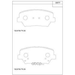 Колодки тормозные дисковые,передние (ASIMCO) KD9777