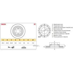 Тормозной диск HYUNDAI SANTA FE->06 перед.вент. (ASP) 290205