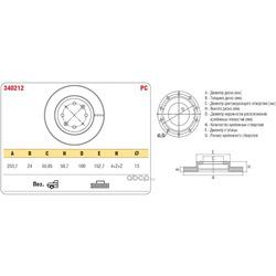 Тормозной диск KIA RIO 00-05 перед. вент. (ASP) 340212