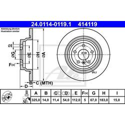 Тормозной диск (Ate) 24011401191