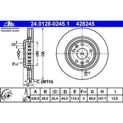 Тормозной диск (Ate) 24012802451