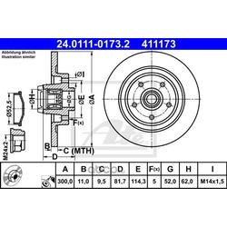 Тормозной диск (Ate) 24011101732