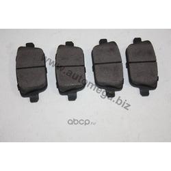 Колодки тормозные, комплект, задние (AUTOMEGA) 120009110