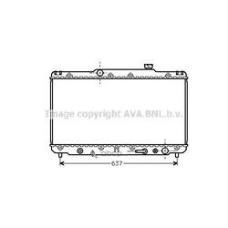Радиатор охлаждения двигателя (Ava) TO2186