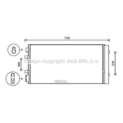 Конденсатор, кондиционер (Ava) RTA5483D
