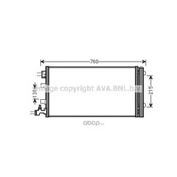 Радиатор кондиционера (Ava) RTA5449