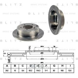 Диск тормозной (Blitz) BS0344