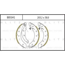 Колодки торм. барабанные (Blitz) BB5041