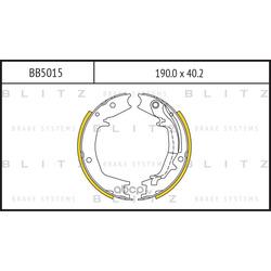 КОЛОДКИ БАРАБАННЫЕ (Blitz) BB5015