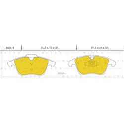 Комплект тормозных колодок, дисковый тормоз (Blitz) BB0478