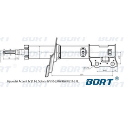 Стойка амортизационная газомасляная передняя левая (BORT) G22048038L