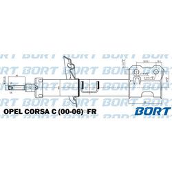 Амортизатор (BORT) G22045163R