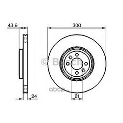 Тормозной диск (Bosch) 0986479209
