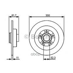 Тормозной диск (Bosch) 0986479445