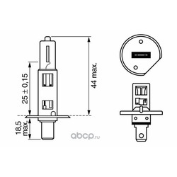 Лампа накаливания H1 (Bosch) 1987302015