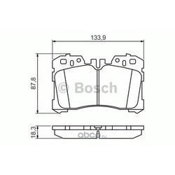 Комплект тормозных колодок, дисковый тормоз (Bosch) 0986494423