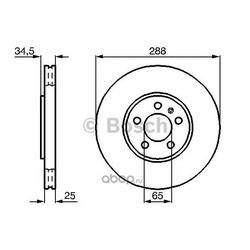 Тормозной диск (Bosch) 0986478867