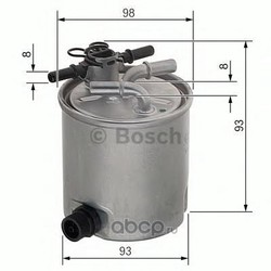 Топливный фильтр (Bosch) F026402072