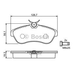 Колодки тормозные передние Bosch Citroen C2 C3 1.4-1.6 02- (Bosch) 0986424635